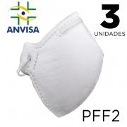 Máscara Respirador PFF2 pacote com 3 unidades - ANVISA 82167630001