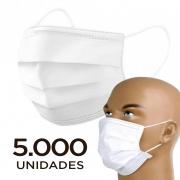 Máscara tripla com filtro bacteriológico - pacote 5000 unidades