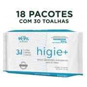 Toalhas Umedecidas Antissépticas HIGIE+ contém 540 toalhas
