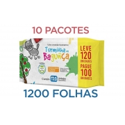 Toalhas Umedecidas Turminha da Bagunça 10 pacotes 1200 Folhas
