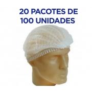Touca Descartável Sanfonada  - 2000 UNIDADES - ANVISA