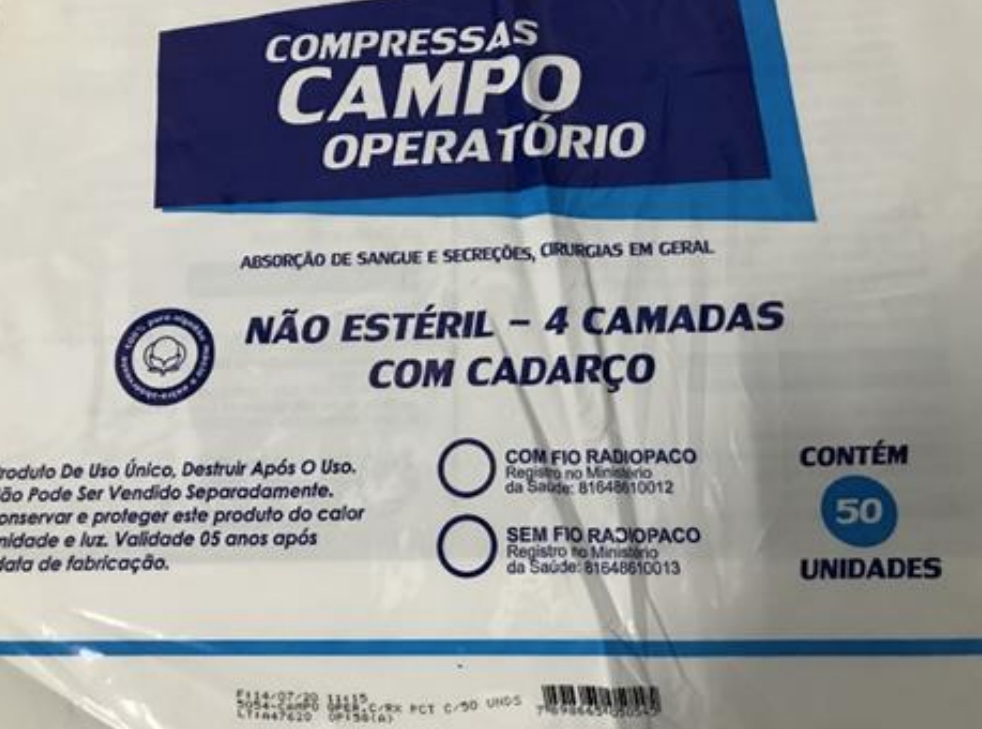 Compressa Campo Operatório não estéril  c/ 50 unidades