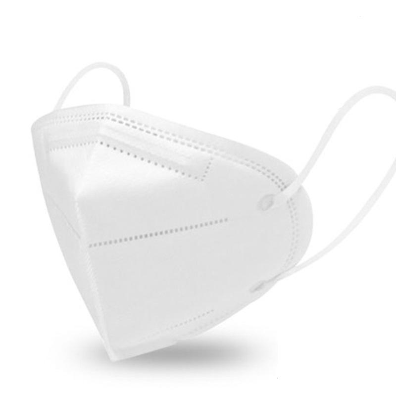 Máscara KN95 / PFF2 / N95 adulto branca - pacote 10 unidades 5 camadas - dupla camada de meltblow BFE 98% + tnt spunbond hospitalar hipoalergenico