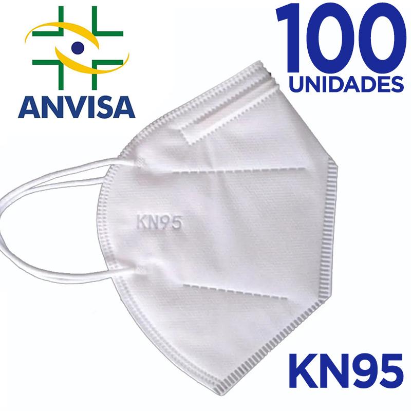 Máscara KN95/N95 sem válvula (com ANVISA) - 100 unidades