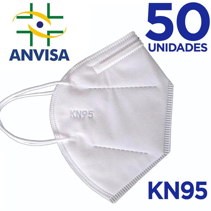 Máscara KN95/N95 sem válvula (com ANVISA) - 50 unidades