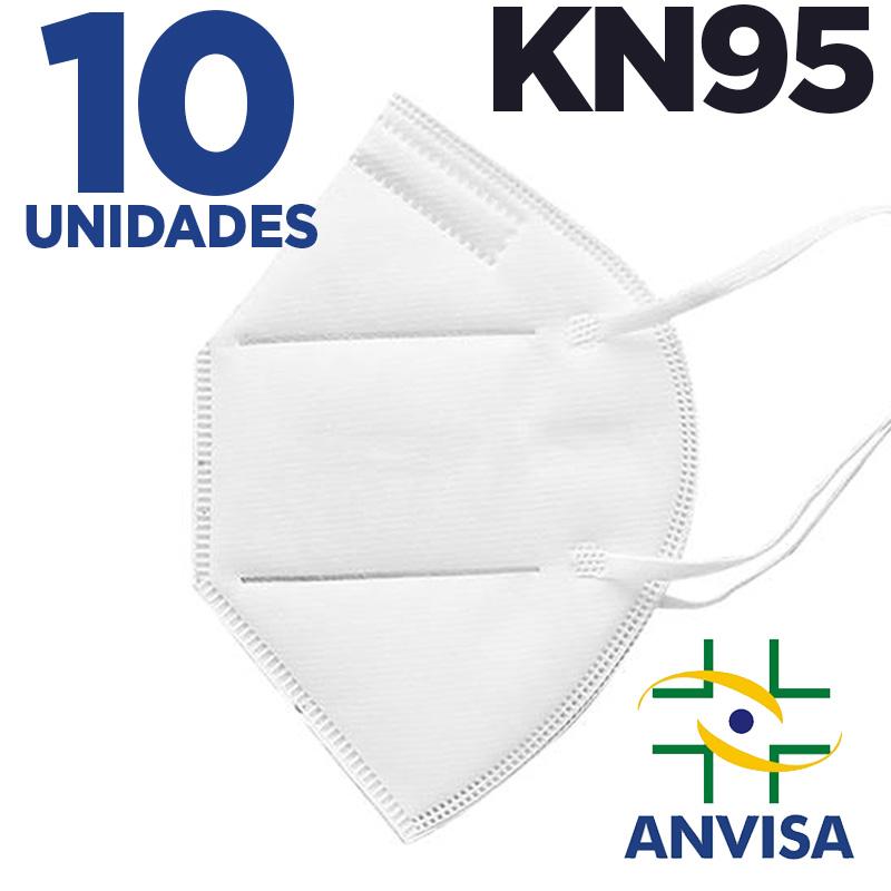 Máscara respirador KN95 - pacote 10 unidades