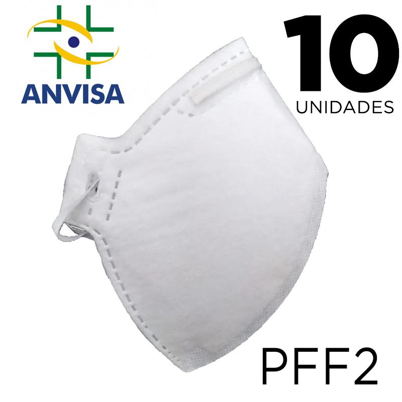 Máscara Respirador PFF2/N95 10 unidades - ANVISA 82167630001