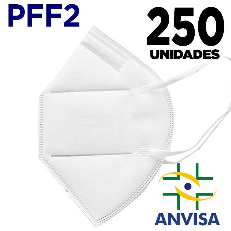 Máscara Respirador PFF2/n95 similar KN95  adulto branca - 5 pacotes de 50 unidades