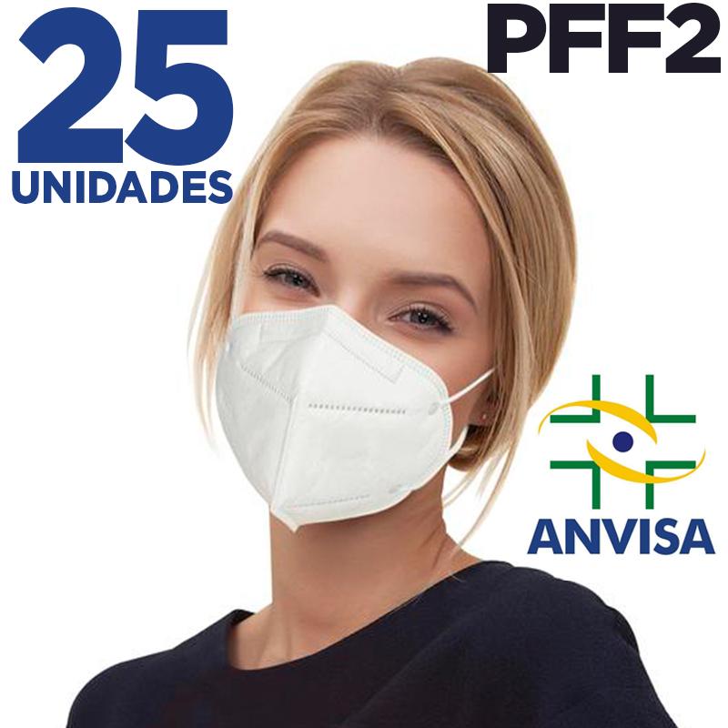 Máscara respirador PFF2 - pacote 25 unidades