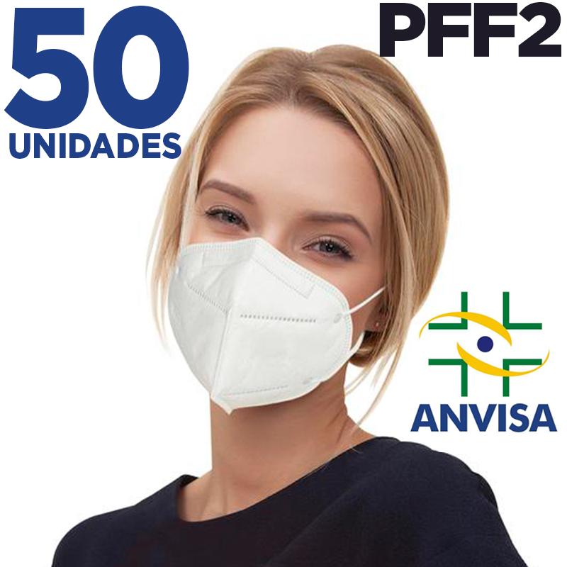 Máscara respirador PFF2/ N95 similar KN95 - pacote 50 unidades