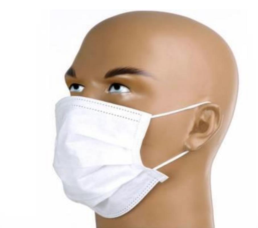 Caixa de máscara tripla camada cirúrgica com filtro bactereologico e registro anvisa - caixa com 50 unidades