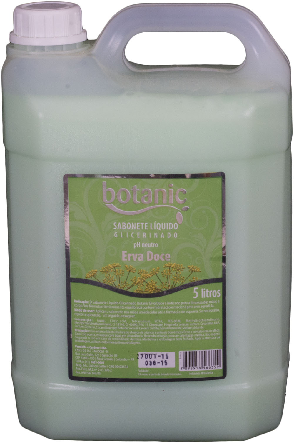 Sabonete líquido Erva Doce Bellplus pH Neutro 5 litros
