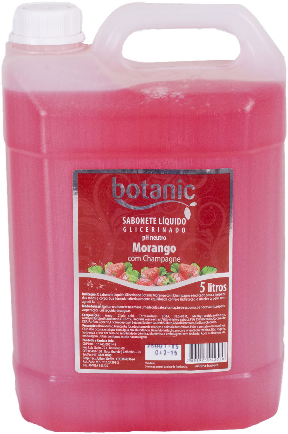 Sabonete líquido morango Bellplus pH Neutro 5 litros
