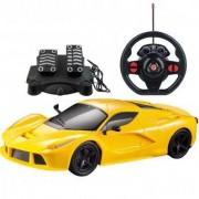 Carrinho de Controle Remoto Racing Control Speed X - Amarelo - Multikids