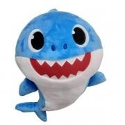 Pelúcia Musical Baby Shark 30cm Azul - Sunny