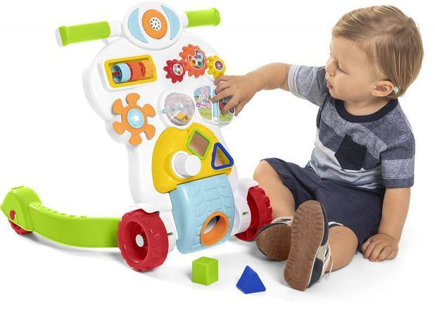 Andador Didático Colorido - Bebê Piloto - Educativo Com Luz E Som - Calesita