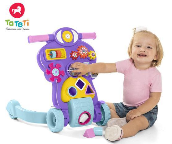 Andador Didático Rosa - Bebê Piloto - Educativo Com Luz E Som - Calesita