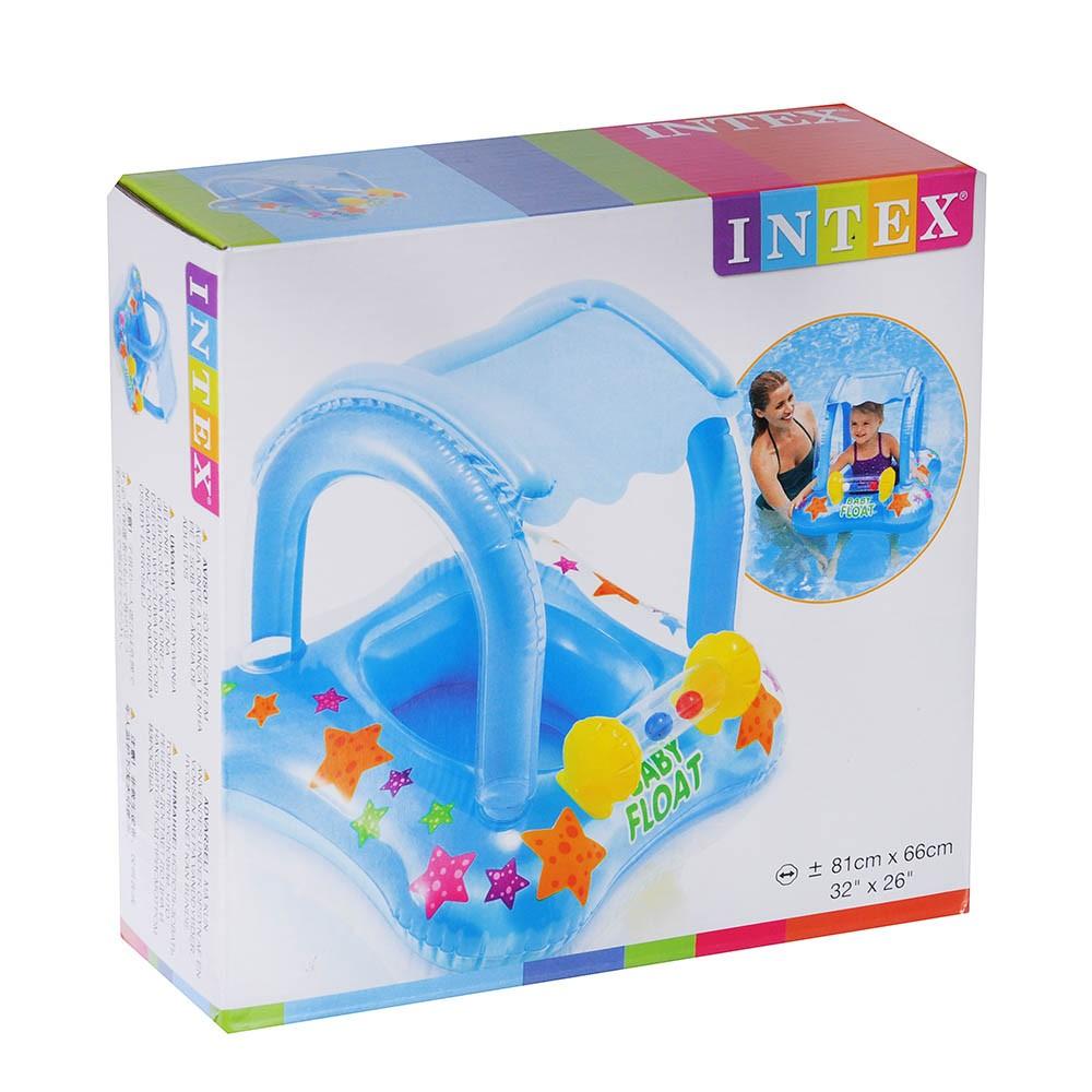 Boia Infantil Com Cobertura Float Intex até 15kg - Intex