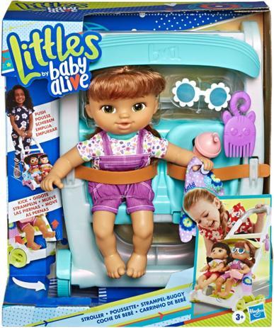 Boneca Baby Alive Carrinho de Bebê Morena - Hasbro
