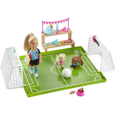 Boneca Barbie Chelsea Futebol com Cachorrinhos - Mattel