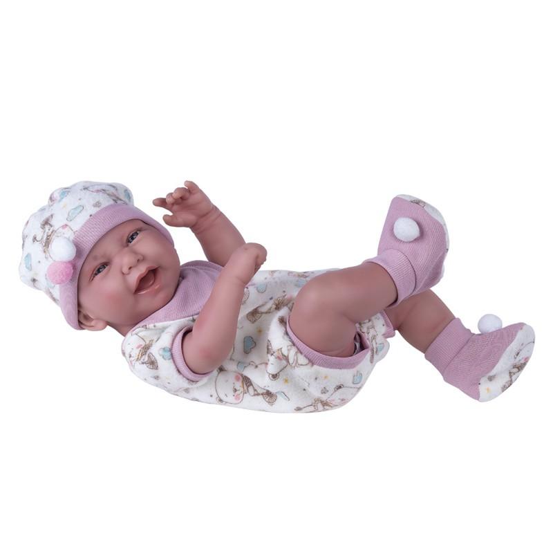 Boneca Reborn Anny Dolls Menina Macacão - Cotiplas