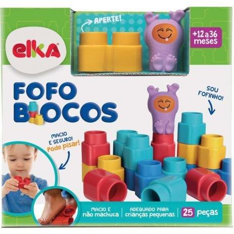 Brinquedo para Montar Fofo Blocos 25 Pecas - Elka