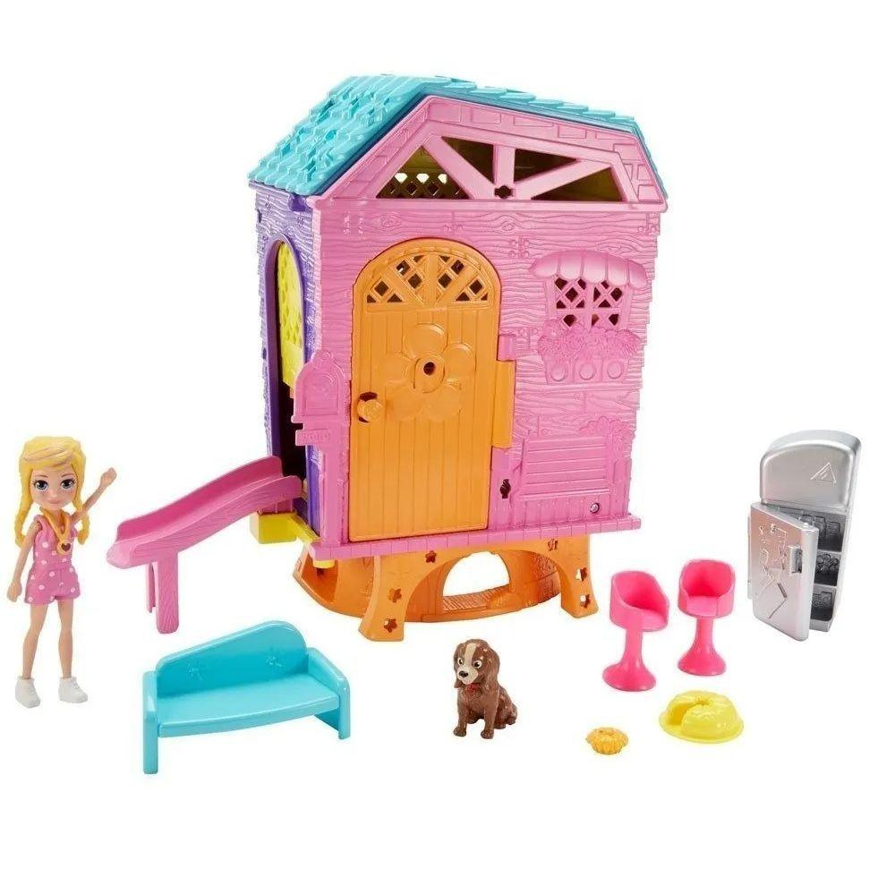 Casa Da Polly Pocket Super Club House E Acessórios - Mattel