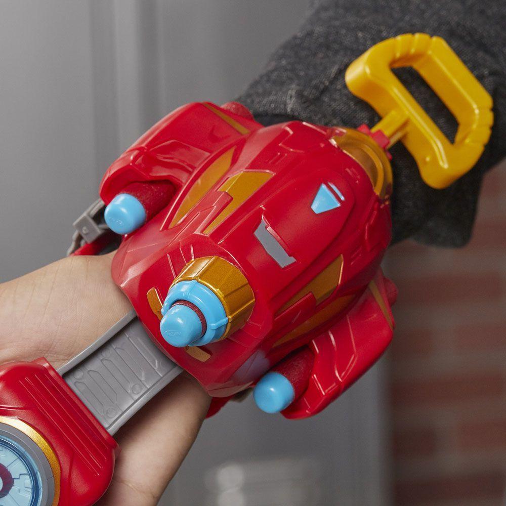 Lancador Nerf Power Moves Iron Man Raio Repulsor - Hasbro
