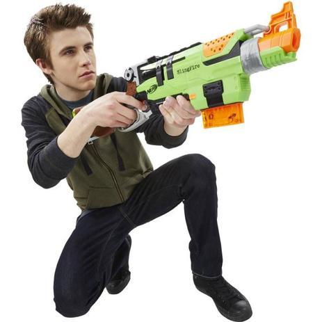 Lançador Nerf Zombie Strike Slingfire - Hasbro