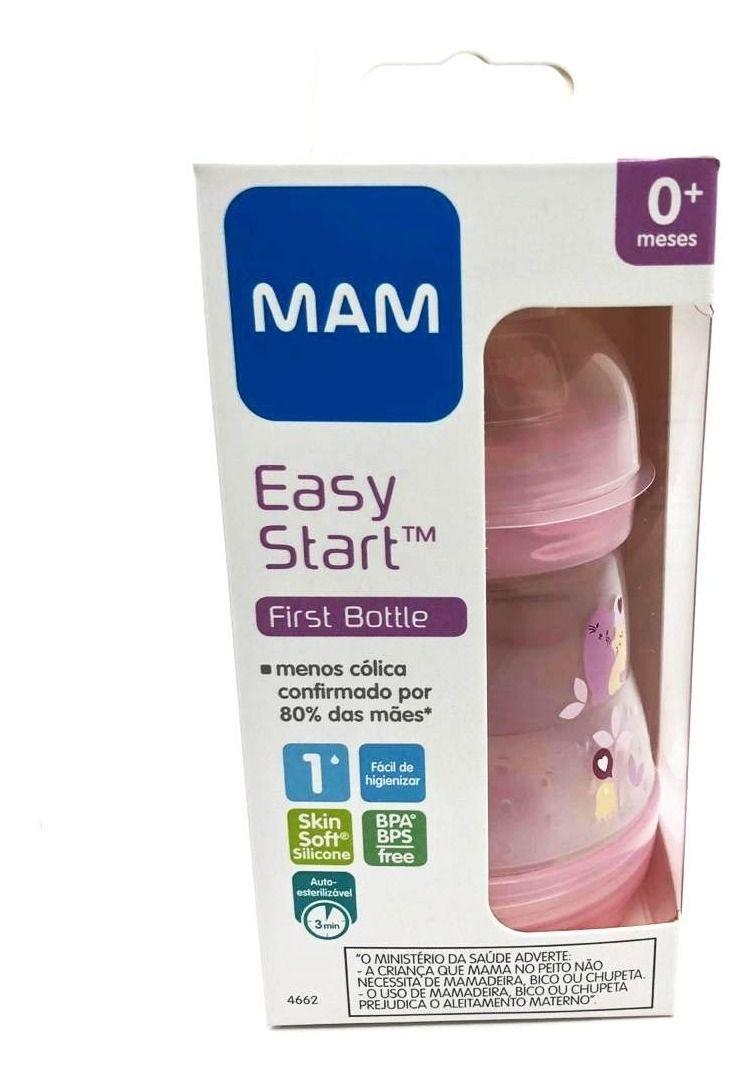 Mamadeira Easy Start 160ml (0+ meses ) Rosa - MAM