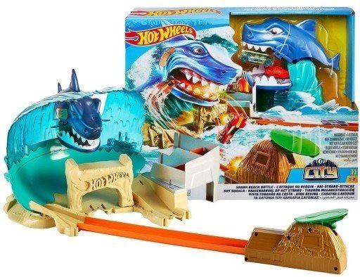 Pista Hot-Wheels City Ataque Tubarão - Mattel