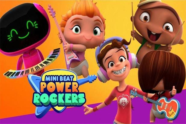 Playset 3D Mini Beat Power Rockers Figura Wat - Multikids