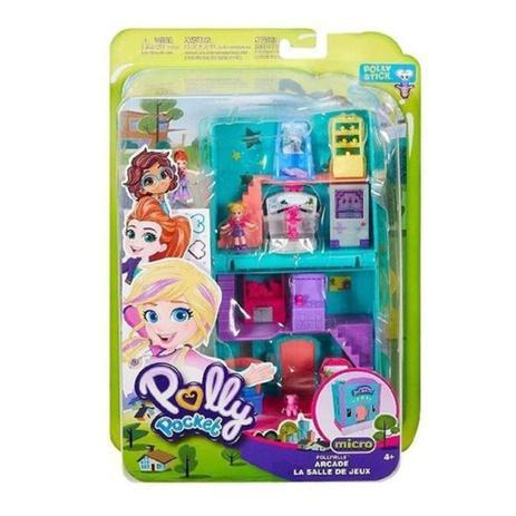 Playset e Mini Boneca Polly Pocket Fliperama - Mattel
