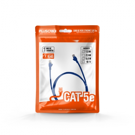 CABO DE REDE CAT.5E 10M PC-ETHU100BL PATCH CORD PLUSCABLE