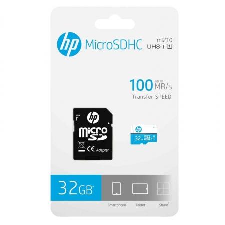 CARTAO DE MEMÓRIA MICRO SD + ADAPTADOR 32GB C10 U1 HP