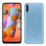 CELULAR SMARTPHONE SAMSUNG GALAXY A11 64GB AZUL 4G - OCTA-CORE 3GB RAM 6,4? CÂM. TRIPLA + SELFIE 8MP