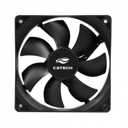 COOLER FAN C3 TECH F7-100BK STORM, 12CM, SEM LED