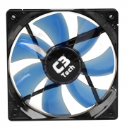 COOLER FAN C3 TECH F7-L100BL STORM, 12CM, LED AZUL