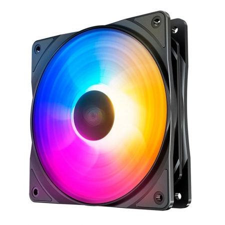 COOLER FAN DEEPCOOL RF120 F2, 120MM, RGB - DP-FLED3-RF120-FS