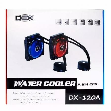 COOLER WATER DX-120A LED VERMELHO 120MM DEX