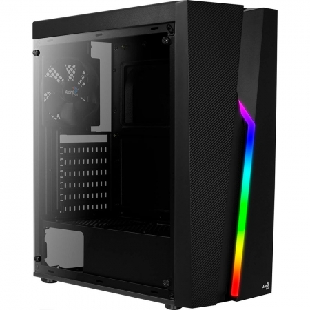 GABINETE GAMER AEROCOOL BOLT MID TOWER, RGB, PRETO