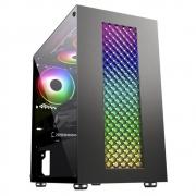 GABINETE GAMER BIFROST3 K-MEX CG01RU PAINEL LED RGB