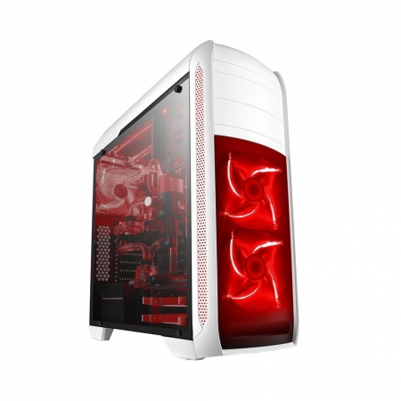GABINETE GAMER BLUE CASE BG 024 - BRANCO SEM FANS