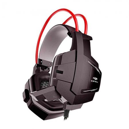 HEADSET GAMER C3 TECH SPARROW P2 PRETO E VERMELHO - PH-G11BK