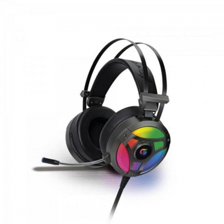 HEADSET GAMER FORTREK PRO H1 PLUS RGB, SURROUND 7.1, CINZA