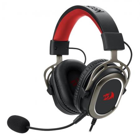 HEADSET GAMER REDRAGON HELIOS, 7.1 SURROUND, DRIVRES 50MM, PRETO E VERMELHO - H710