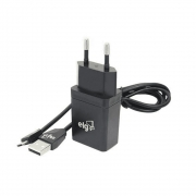 KIT MICRO USB ELG KT510WC CARREGADOR DE PAREDE E CABO MICRO USB PRETO