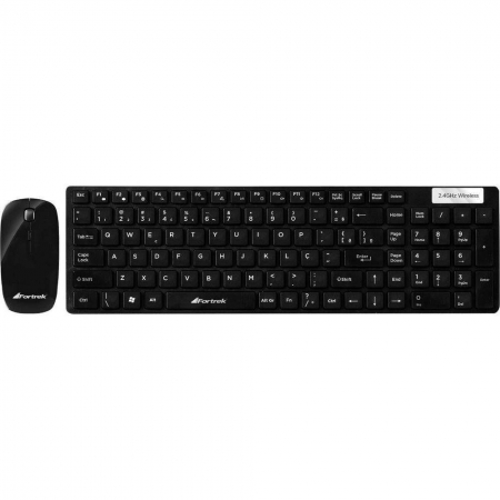 KIT TECLADO E MOUSE WIRELESS FORTREK WCF102