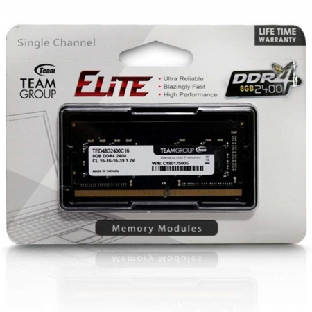 MEMÓRIA NOTEBOOK TEAM GROUP ELITE  DDR4 8GB 2400 MHZ  TED48G2400C16-S01