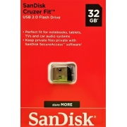 PEN DRIVE SANDISK CRUZER FIT 64GB, USB 2.0 FLASH DRIVE
